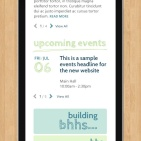 Bloomfield Hills Homepage on Mobile with Search Field Active