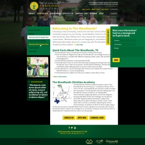 The Woodlands Christian Academy - Interior Page