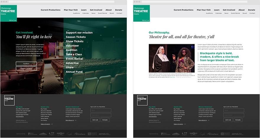 Chattanooga Theatre Centre Interior Page Designs - Brian Behm Design