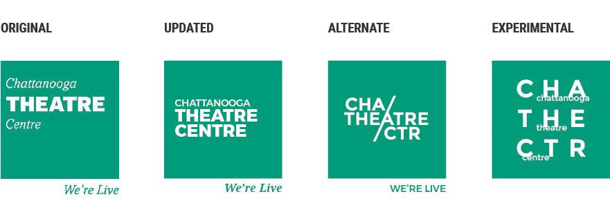 Chattanooga Theatre Centre Logo Evolution - Brian Behm Design
