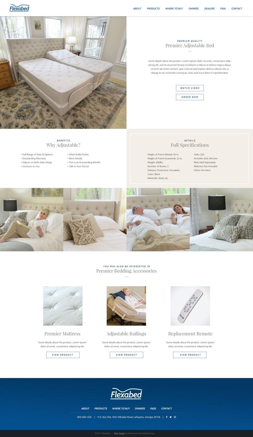 Flexabed - Website