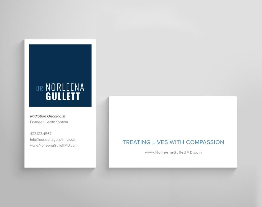 Dr. Norleena Gullett - Business Card Design