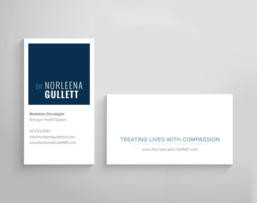 Dr. Norleena Gullett - Business Card Design