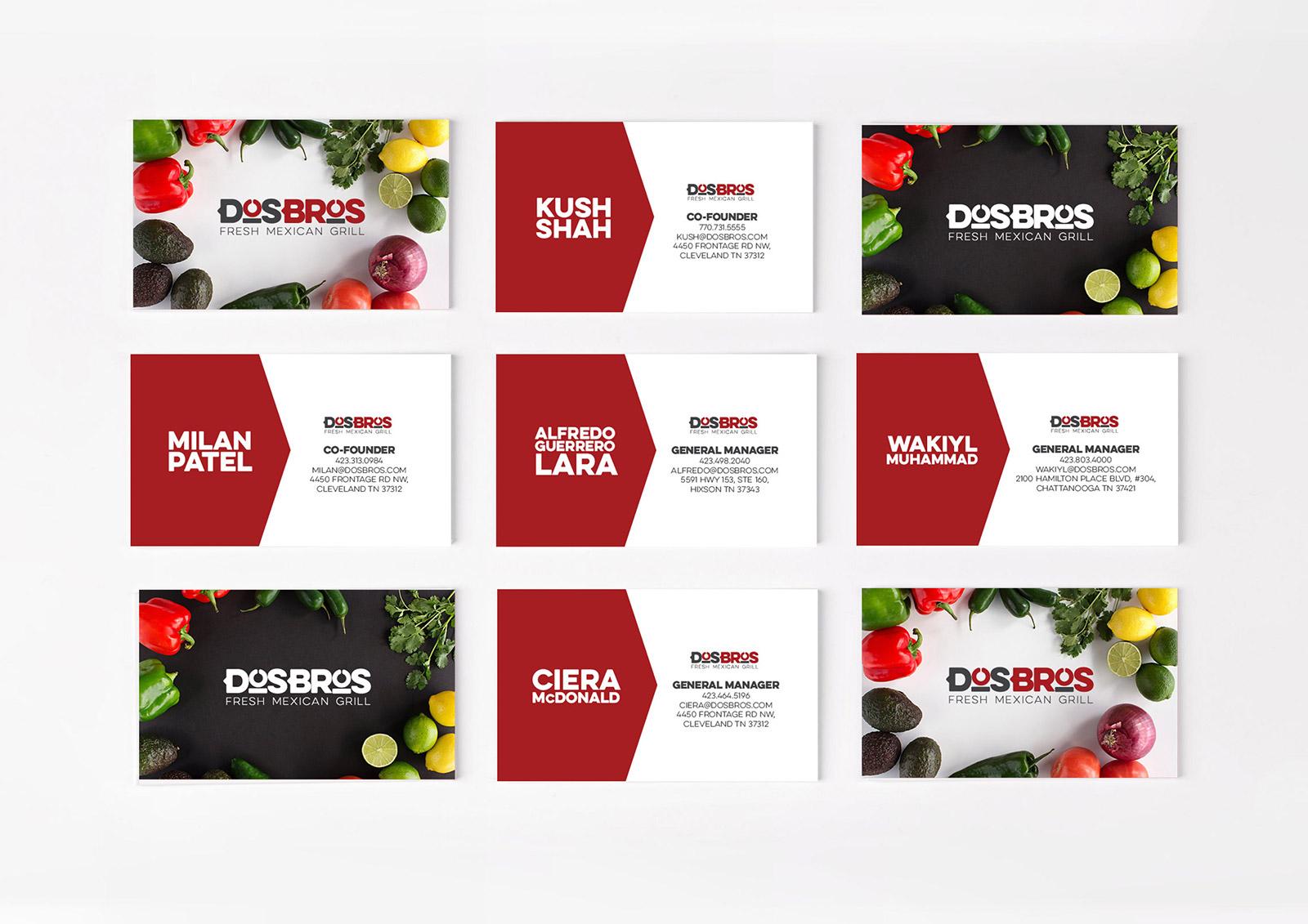 Dos Bros Business Cards