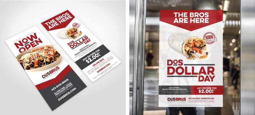 Dos Bros Rack Card and Poster