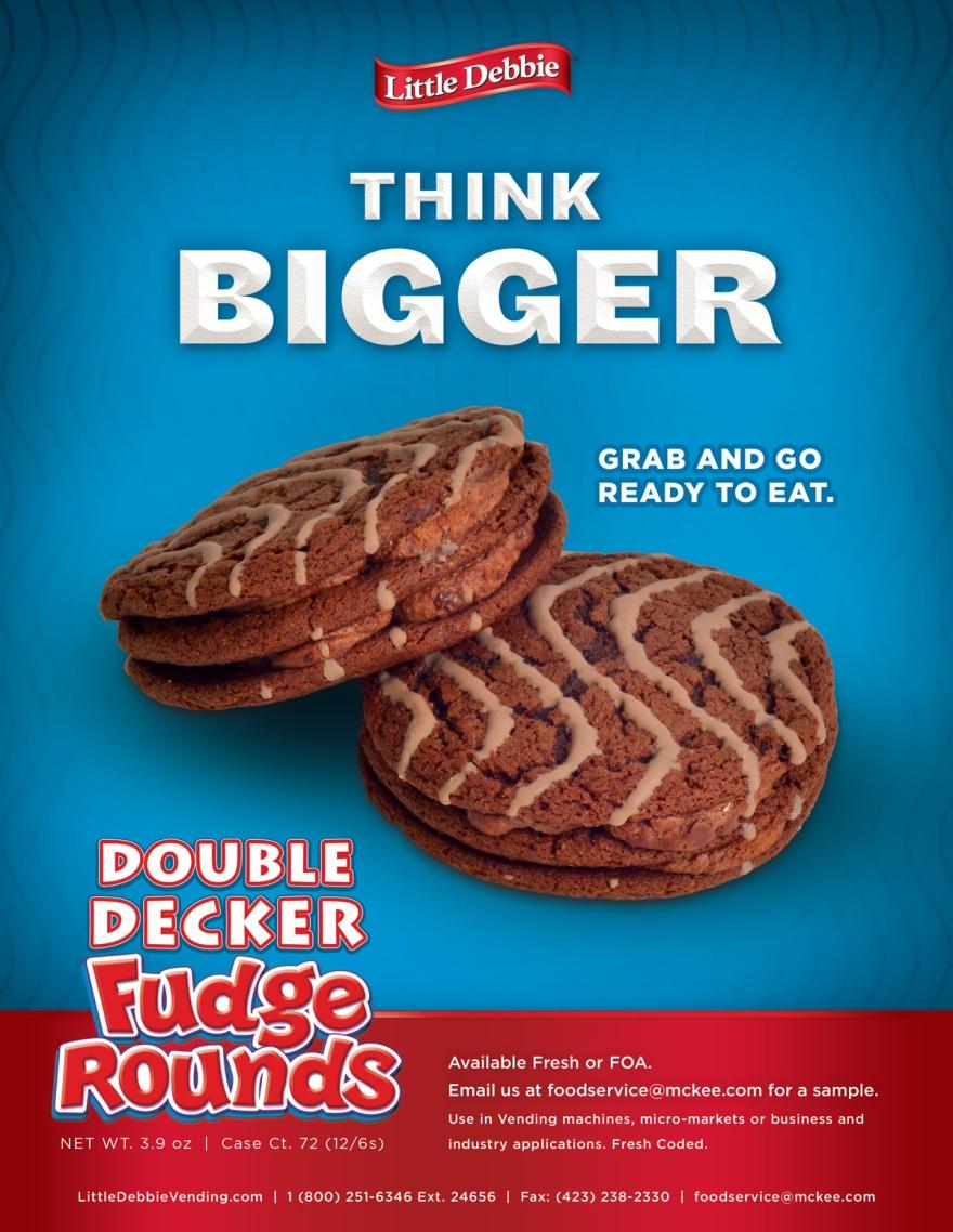 Little Debbie Double Decker Fudge Round Flier