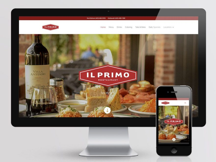 Il Primo Restaurant Website Mock Up