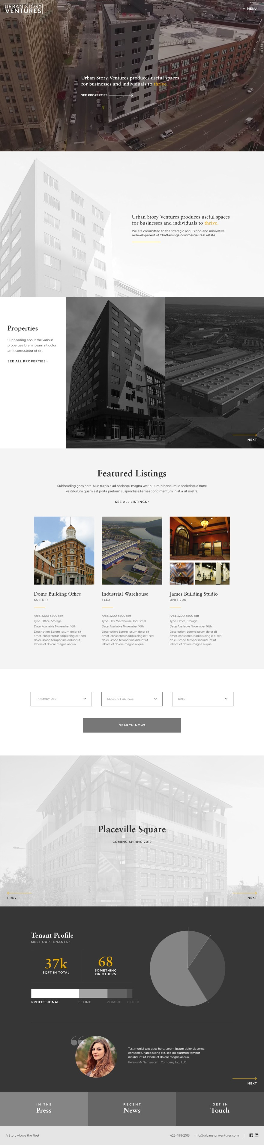 Urban Story Ventures - Website Home Page