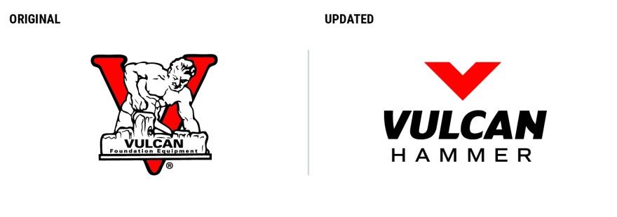 Vulcan Hammer Logo Evolution